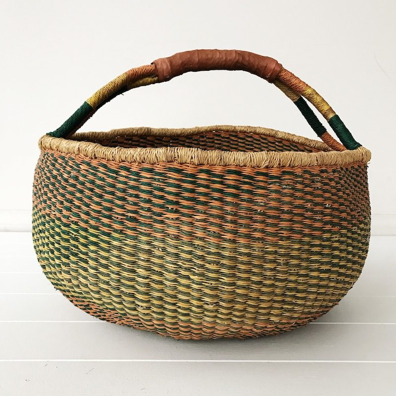 Blush Large Market Bolga Basket Collective Sol