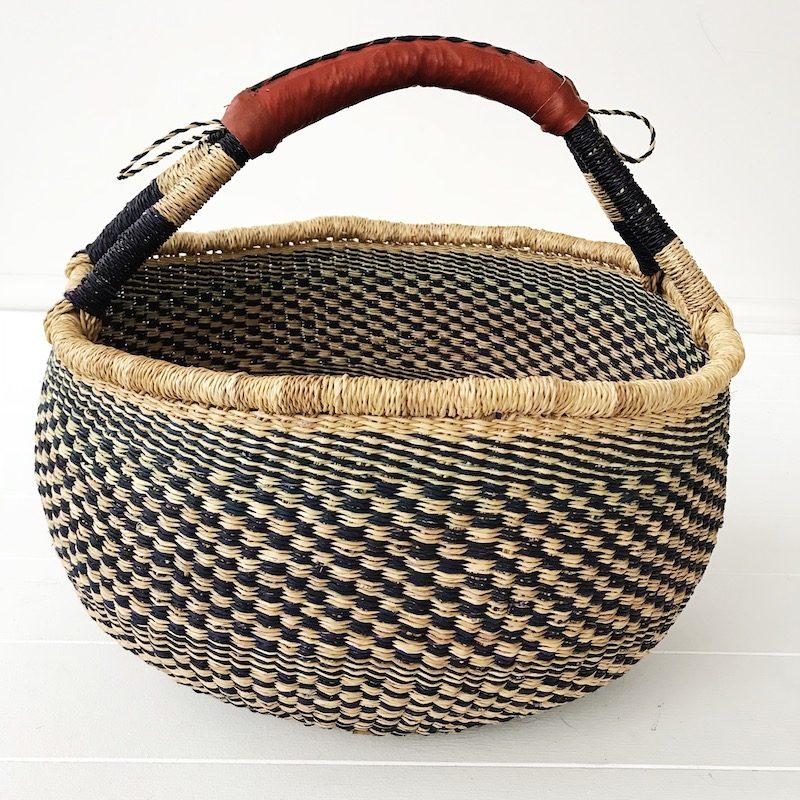 Indigo Large Market Bolga Basket Collective Sol