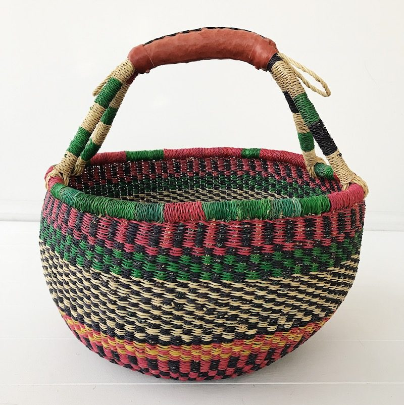 Watermelon Large Market Bolga Basket Collective Sol