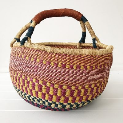 Lilac Large Market Bolga Basket Collective Sol