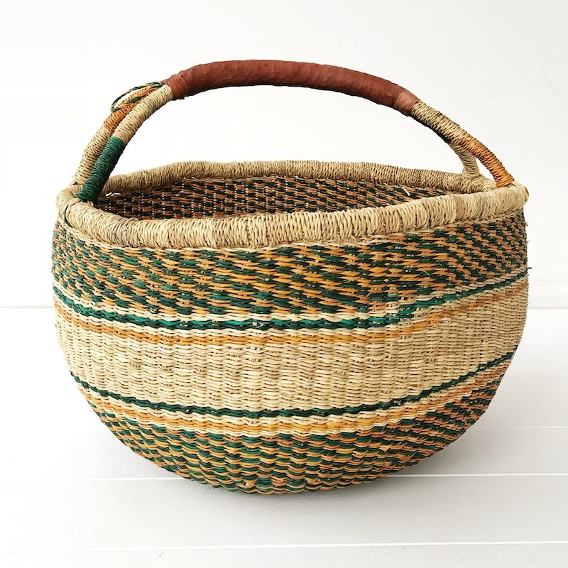 Wattle Large Market Bolga Basket Collective Sol