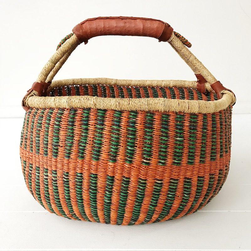Nutmeg Large Market Bolga Basket Collective Sol