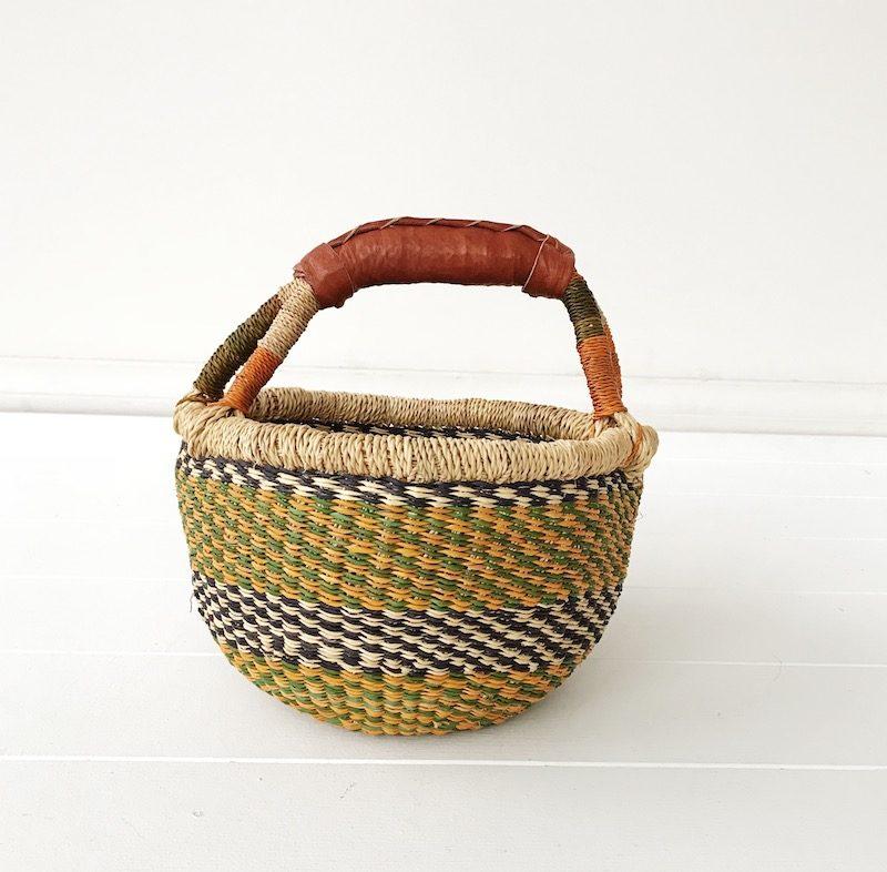 Marigold Mini Market Bolga Basket Collective Sol