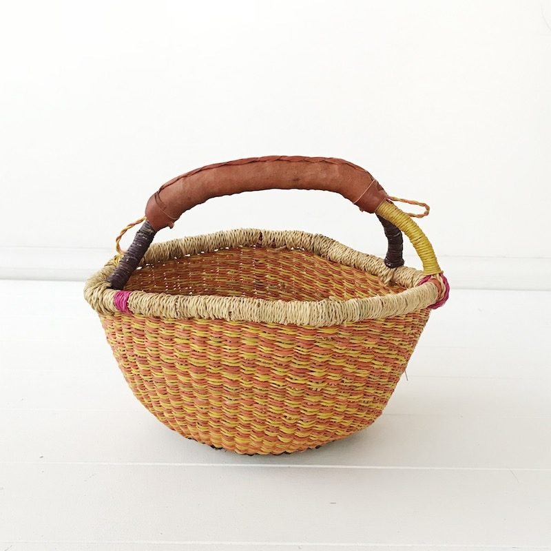 Peaches Mini Market Bolga Basket Collective Sol