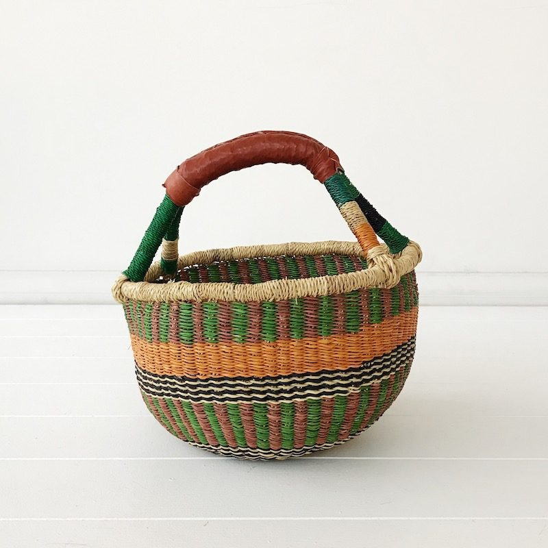 Pine Mini Market Bolga Basket Collective Sol