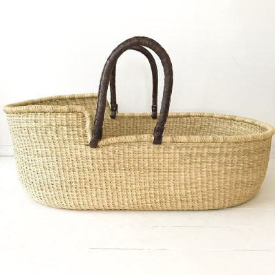Brown Natural Moses Basket Collective Sol