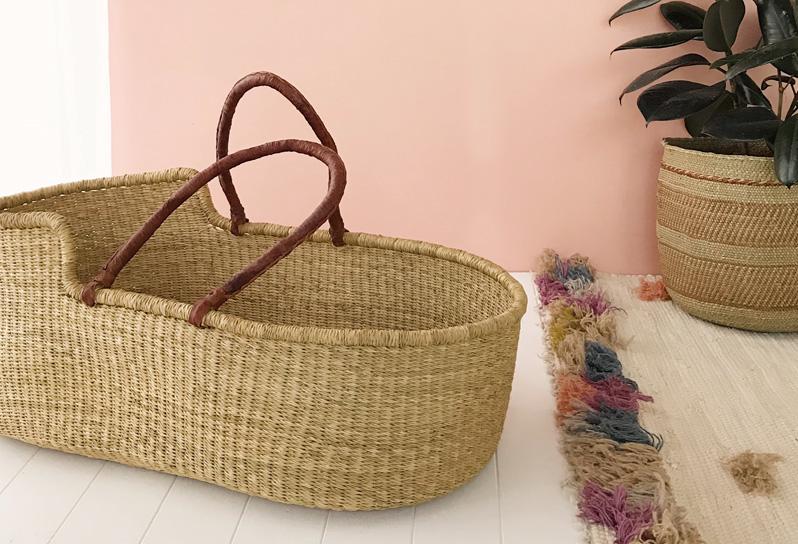 coupe classique a3701 b59cd Fairtrade Moses Baby Basket | Collective Sol Australia