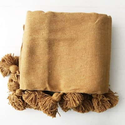 Harper Gold Pom Pom Throw Collective Sol