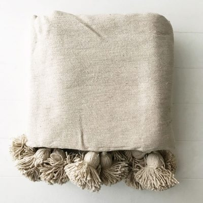 Harper Natural Pom Pom Throw Collective Sol