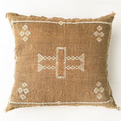 Cactus Silk Cushion Ochre Collective Sol