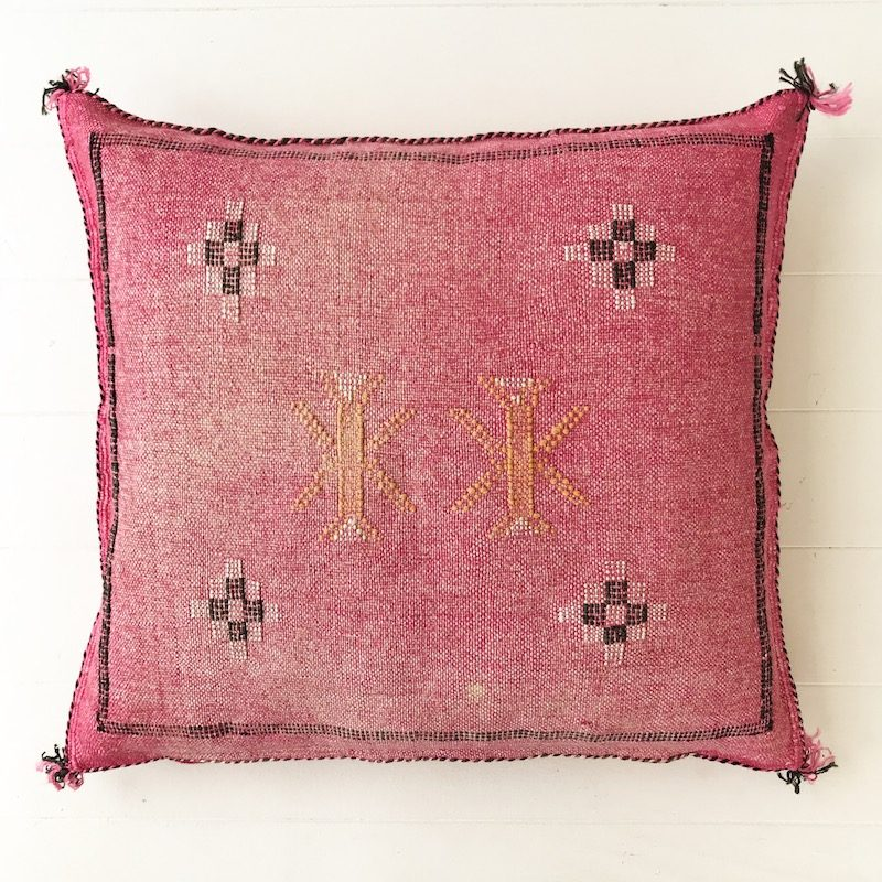 Cactus Silk Cushion Pink Collective Sol