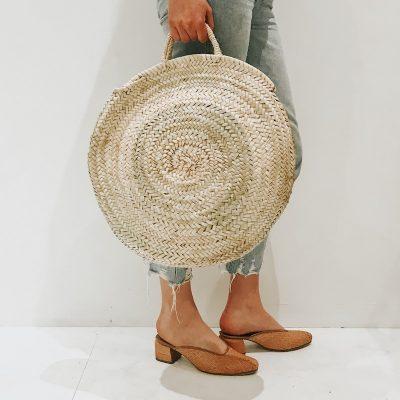 Sierra Round Straw Moroccan Bag