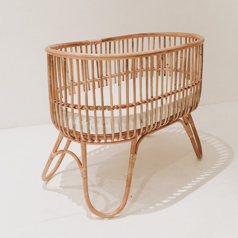Peaches Rattan Bassinet Collective Sol