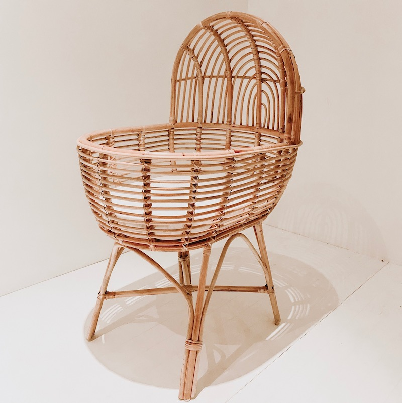 Harlow Rattan Bassinet Collective Sol