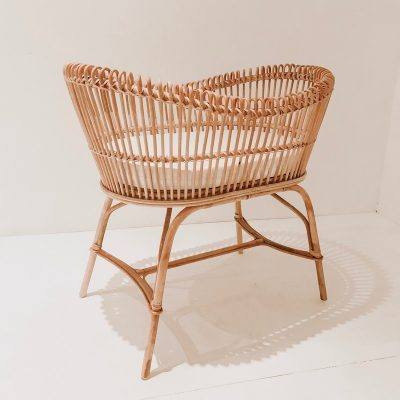 Sage Rattan Bassinet Collective Sol