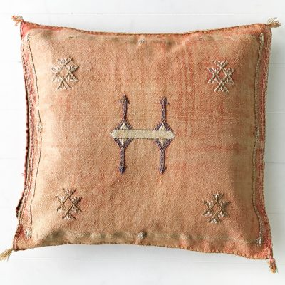 Collective Sol Cactus-Silk-Cushion-Peach-5