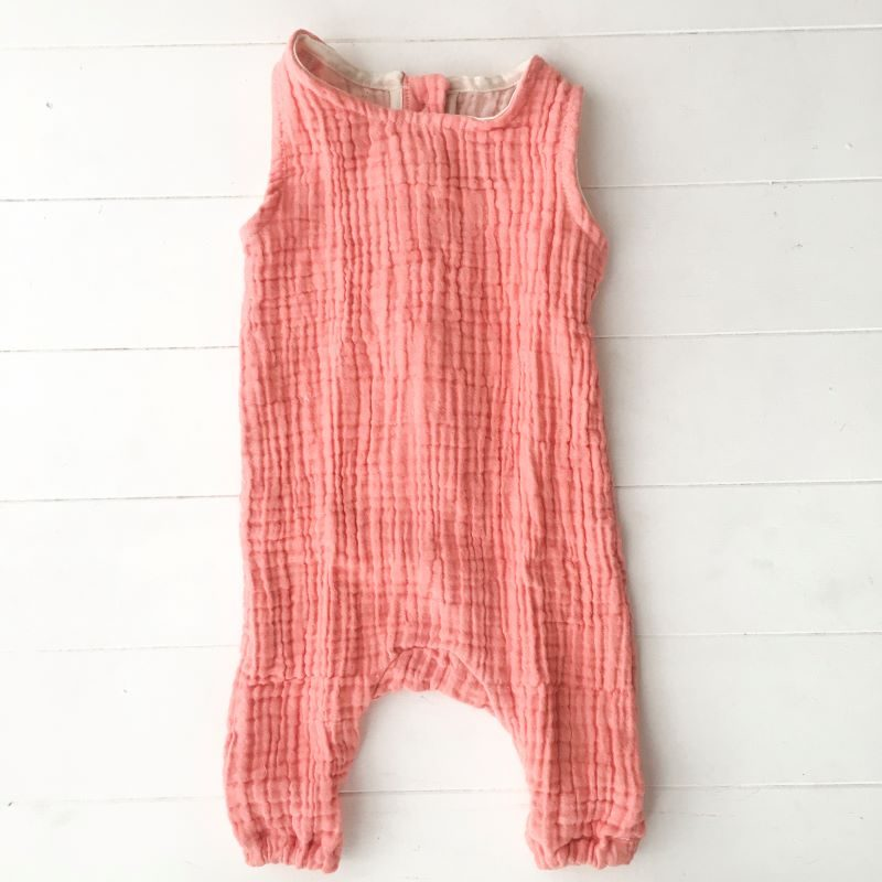 Collective Sol Coral-Onesie-Front