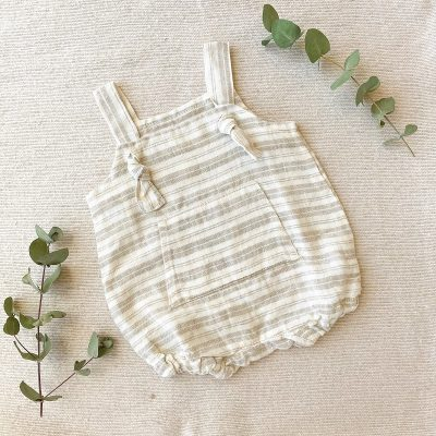 Collective Sol stripy-linen-onesie