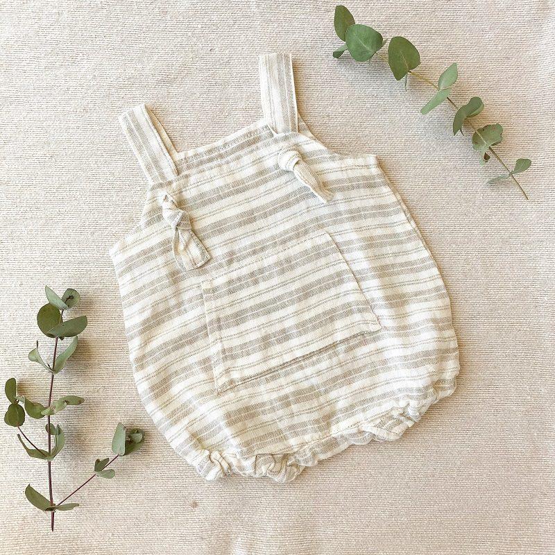Collective Sol stripy-linen-onesie