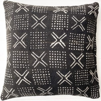 Collective Sol Black Mudcloth Cushion Style 2