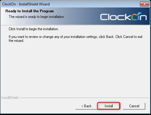 Installing ClockOn : Support