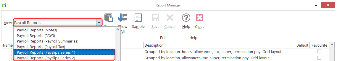 Report Manager - Viewing Payslips : Support
