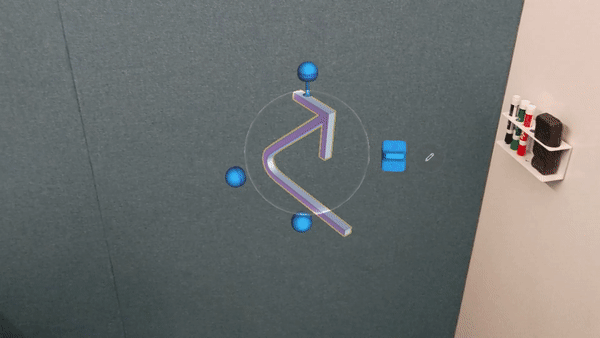 Edit a hologram by using touch