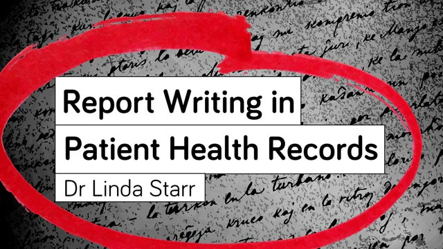 Image for Report Writing in Patient Health Records