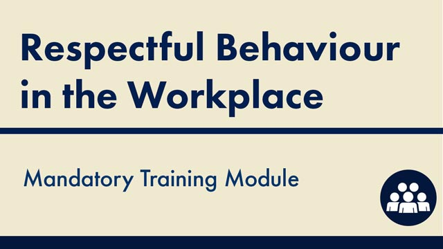 Image for Respectful Behaviour in the Workplace
