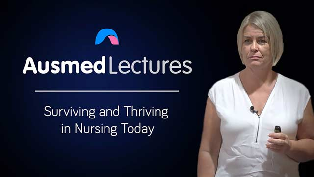 Cover image for lecture: Surviving and Thriving in Nursing Today