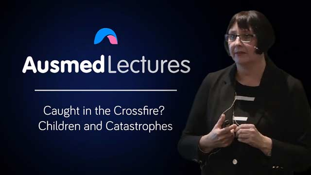 Cover image for lecture: Caught in the Crossfire? Children and Catastrophes
