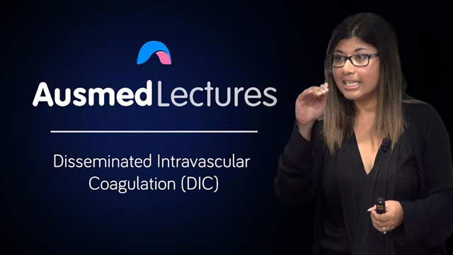 Cover image for lecture: Disseminated Intravascular Coagulation (DIC)