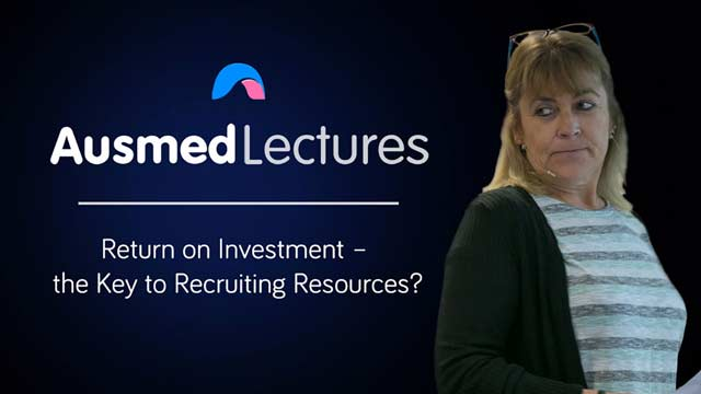 Cover image for lecture: Return on Investment – the Key to Recruiting Resources?