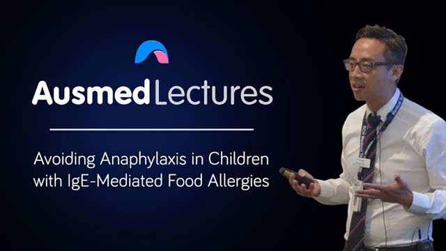 Cover image for lecture: Avoiding Anaphylaxis in Children with IgE-Mediated Food Allergies