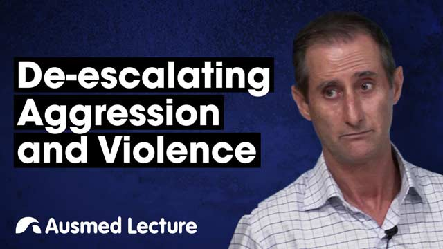 Cover image for lecture: De-escalating Aggression and Violence