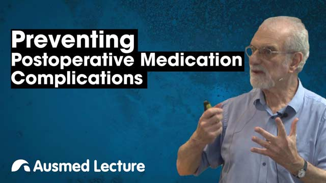 Cover image for lecture: Postoperative Medication Complications