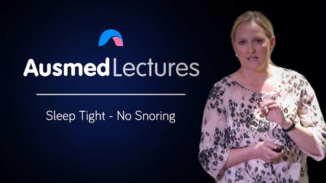 Cover image for lecture: Sleep Tight - No Snoring