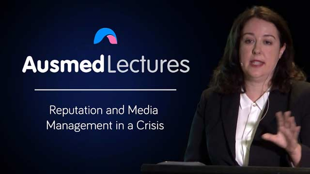 Cover image for lecture: Reputation and Media Management in a Crisis