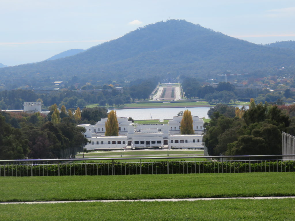 Canberra, view from Parliament House