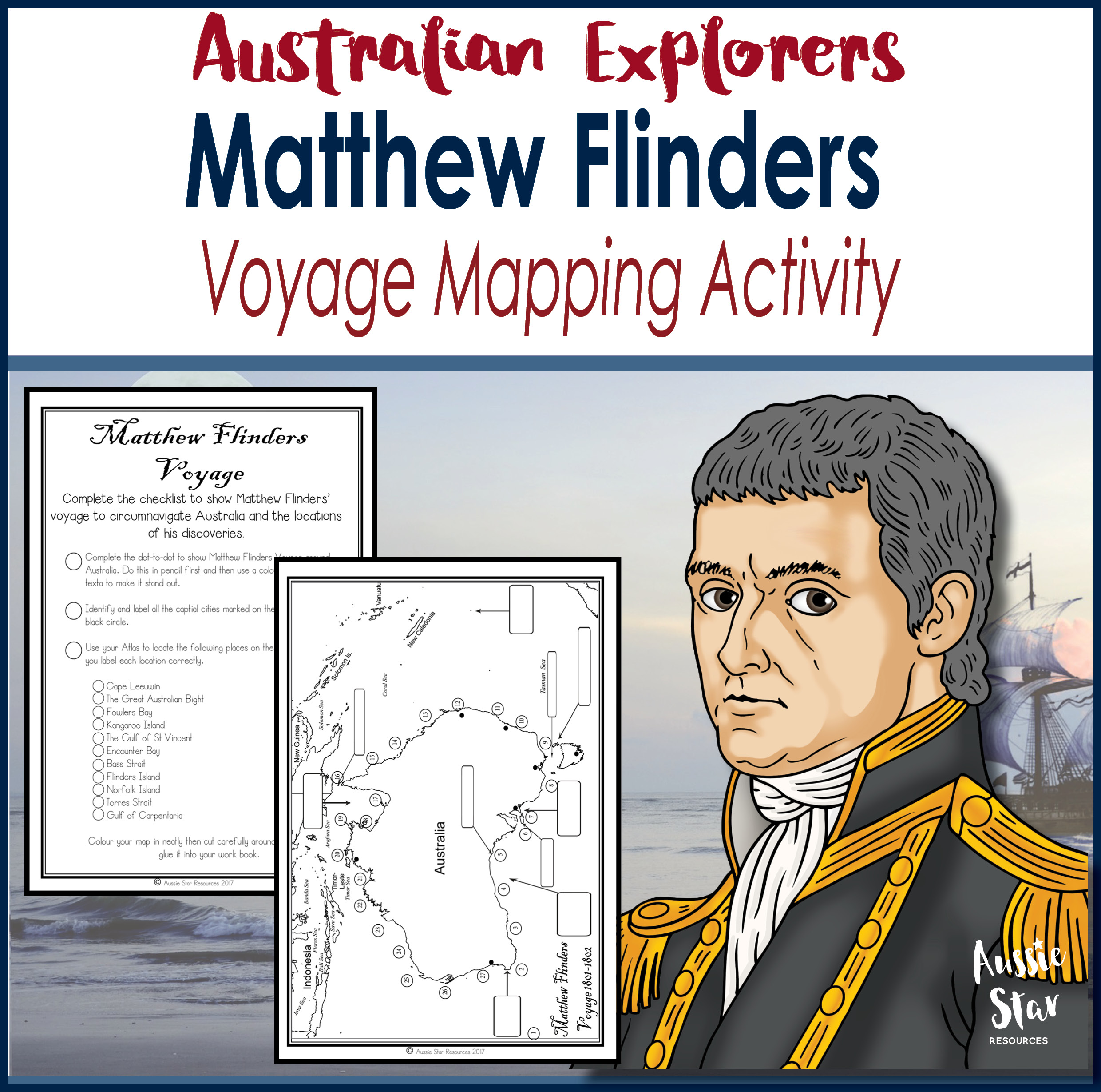 Matthew Flinders Voyage Mapping Activity