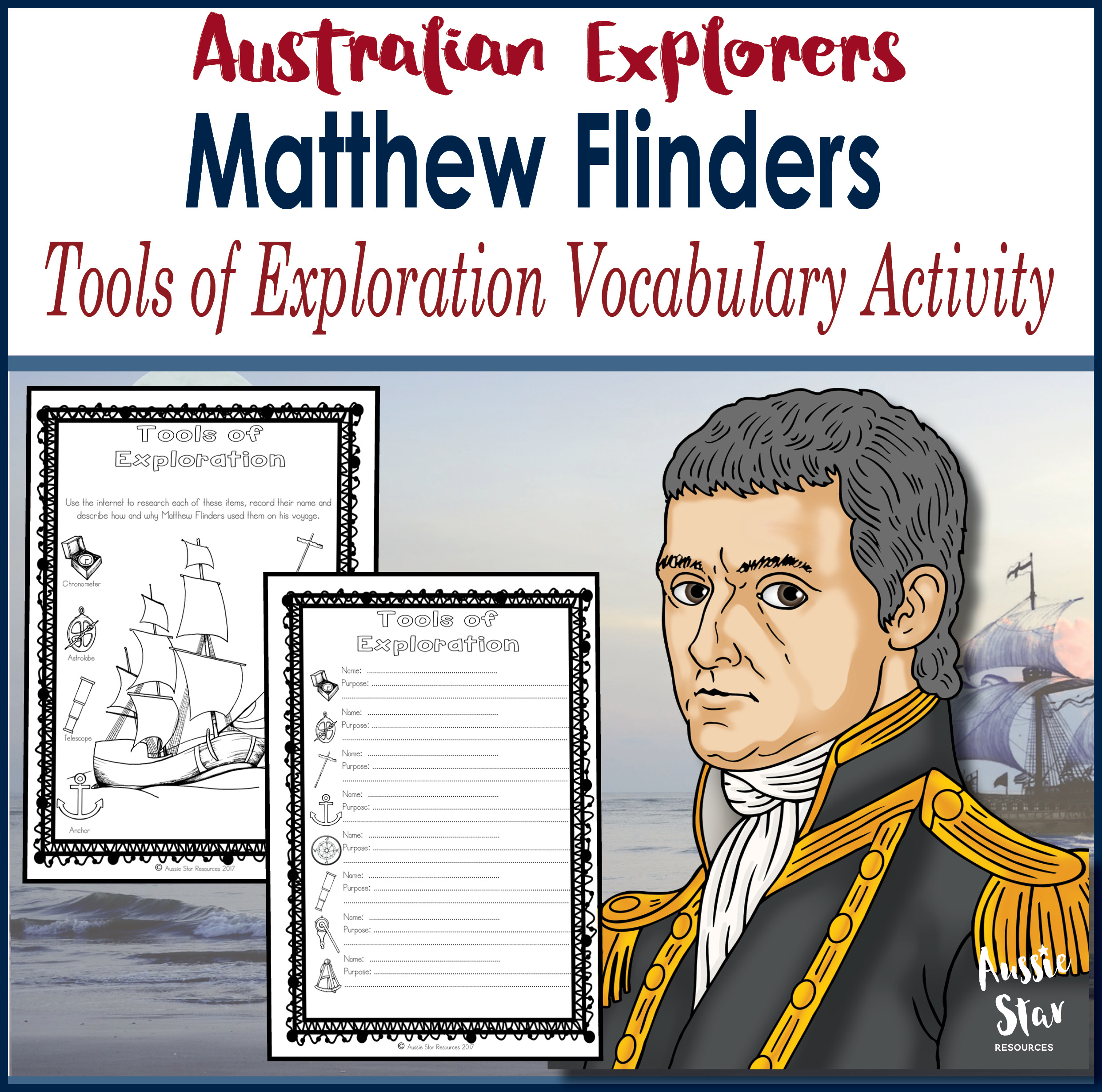 Matthew Flinders Tools of Exploration Vocabulary Activity
