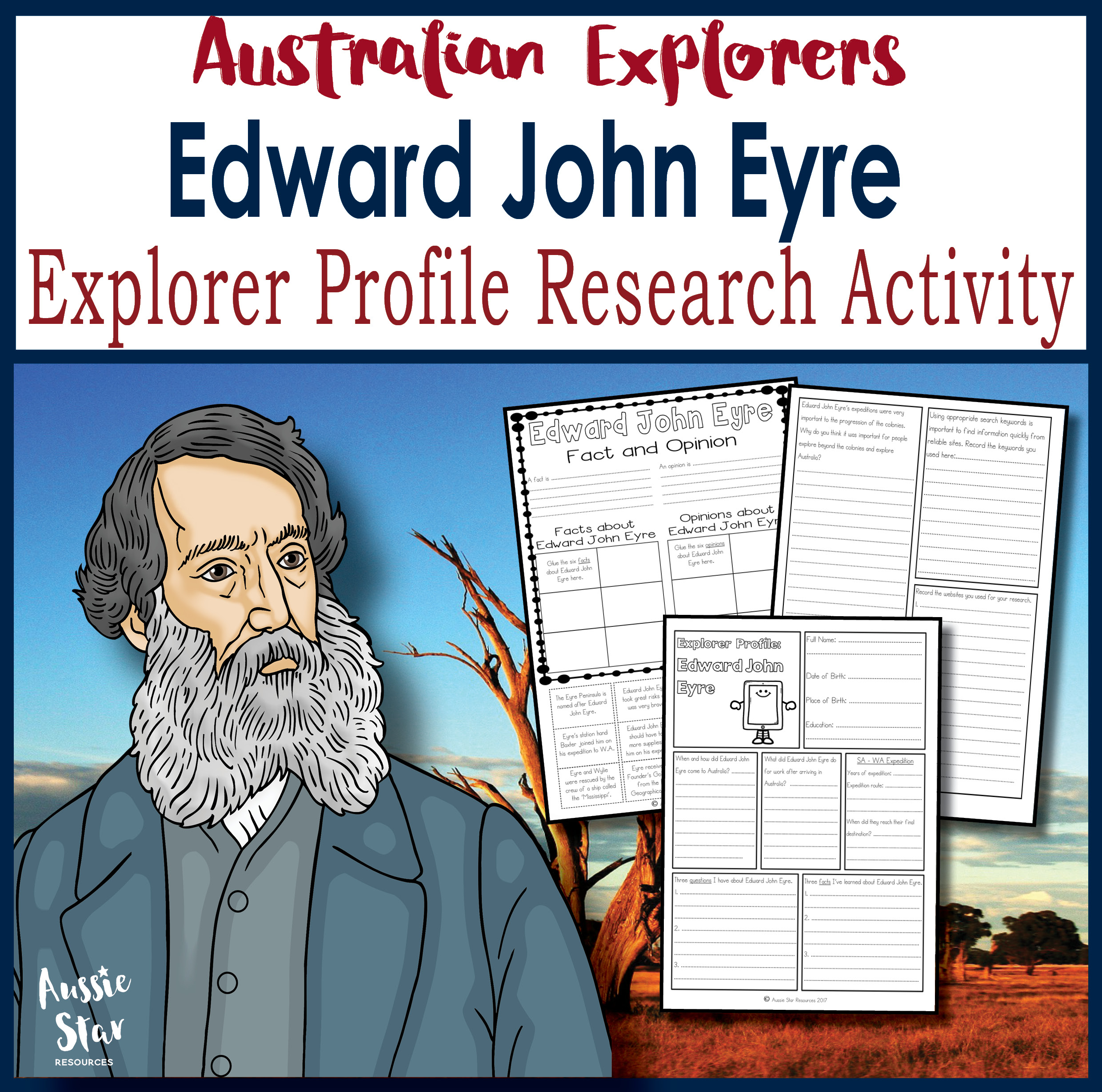 Edward John Eyre Research Profile Activity