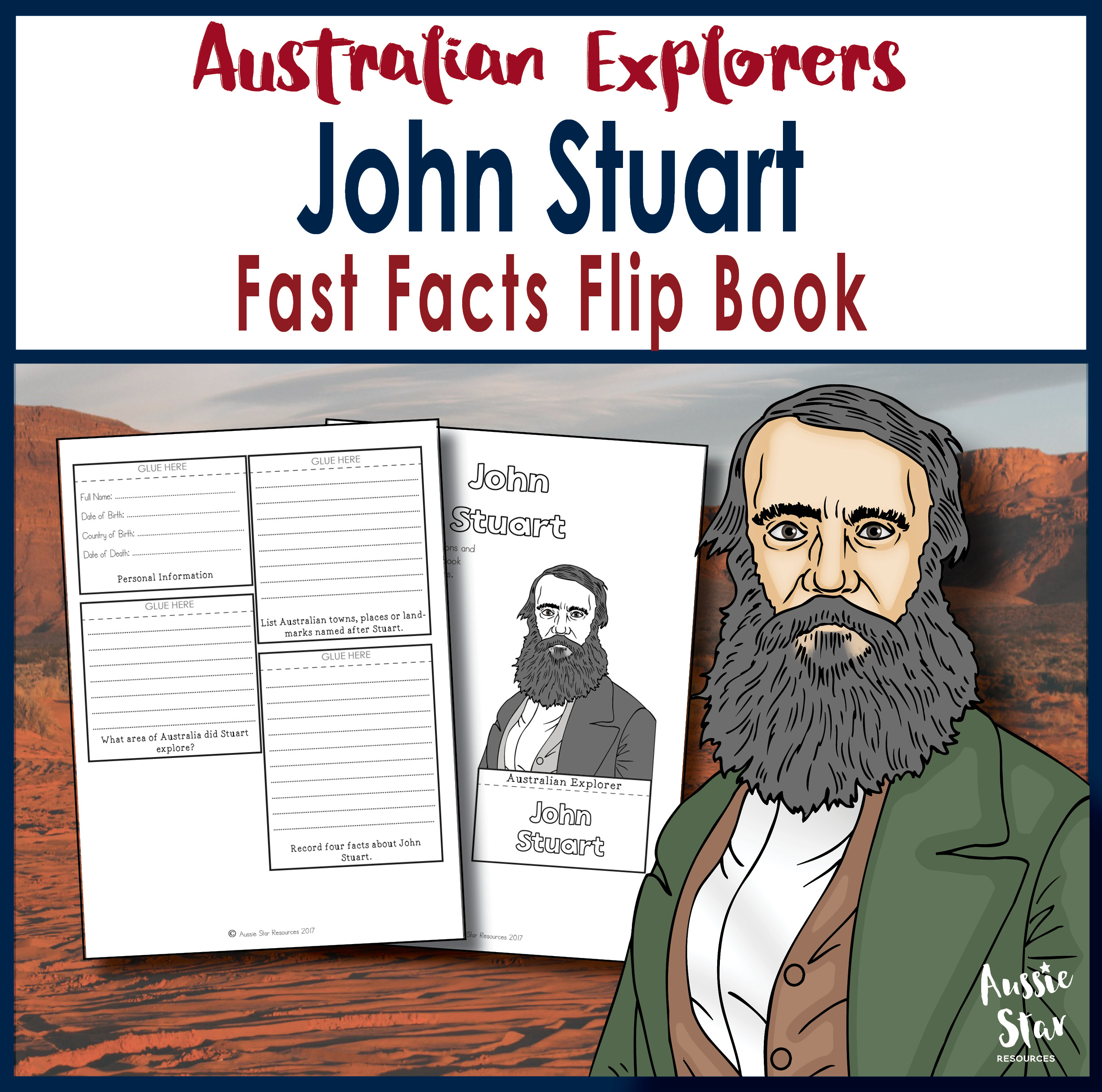 John Stuart fast facts flip book