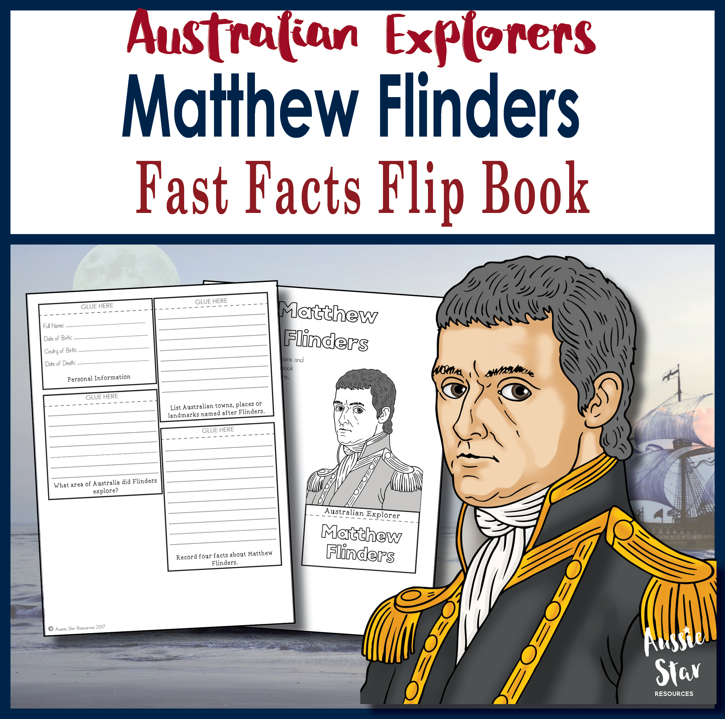 Matthew Flinders fast facts flip book