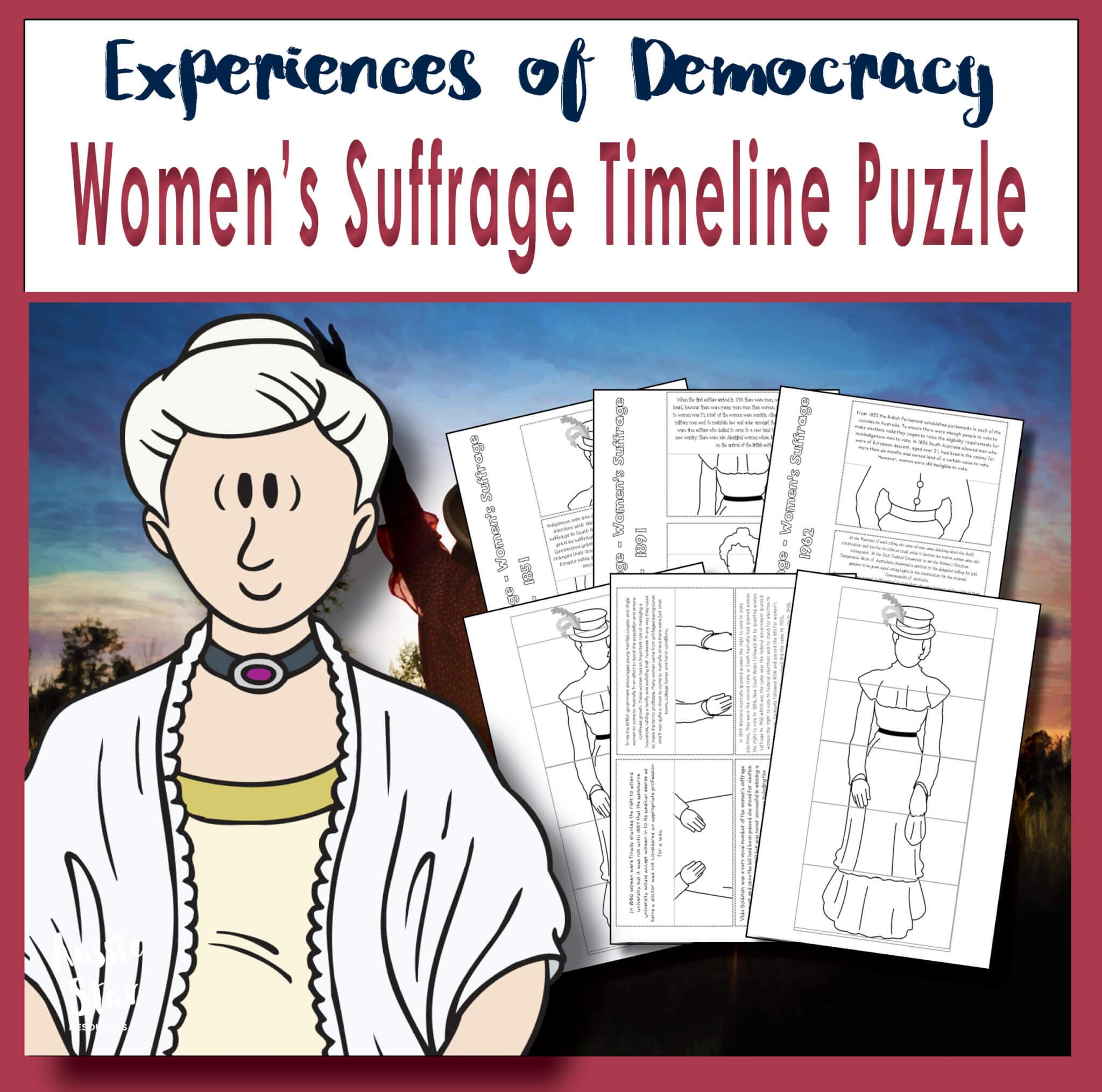 women's suffrage timeline puzzle activity