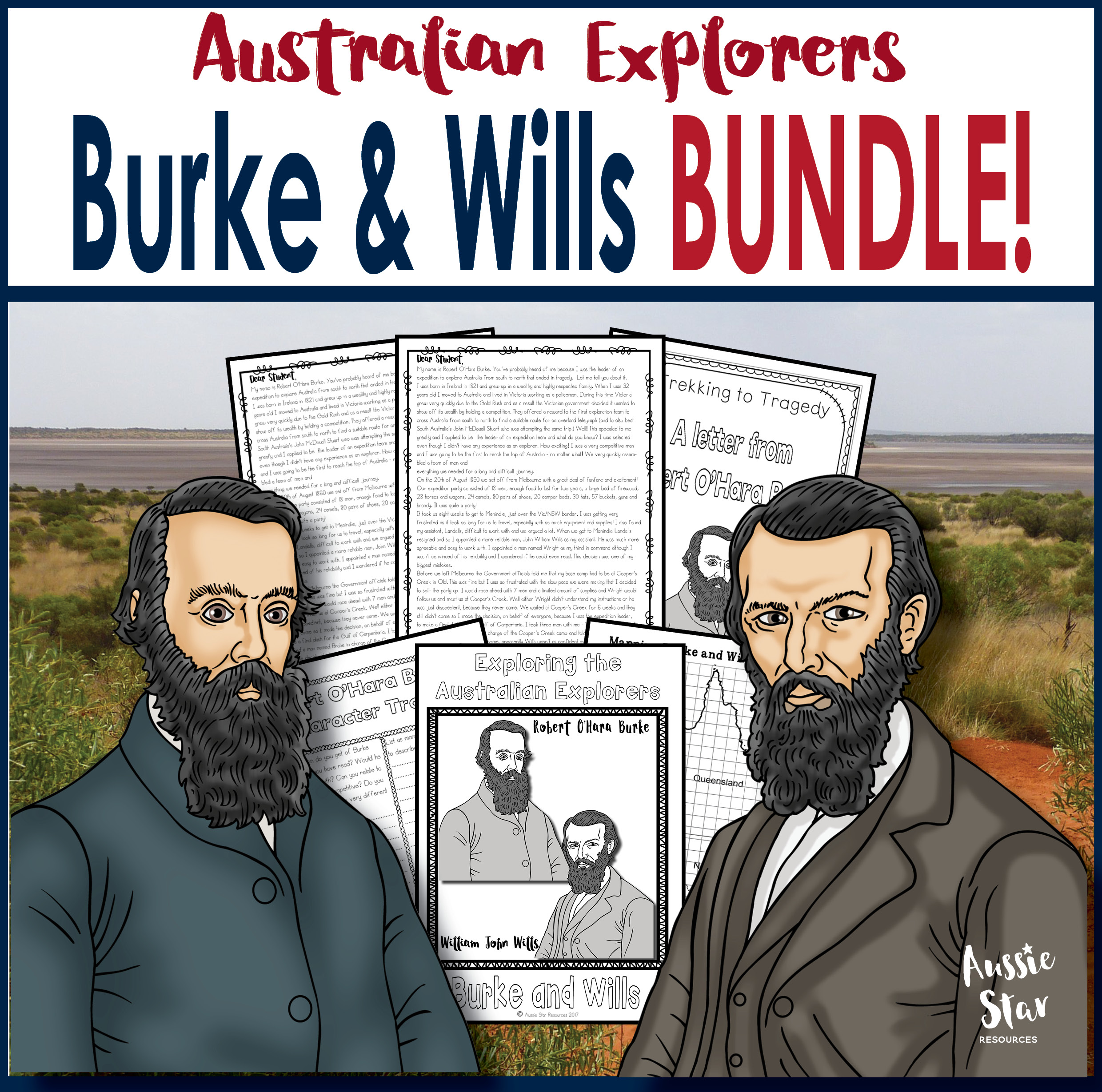 Burke and Wills bundle save 30 cover