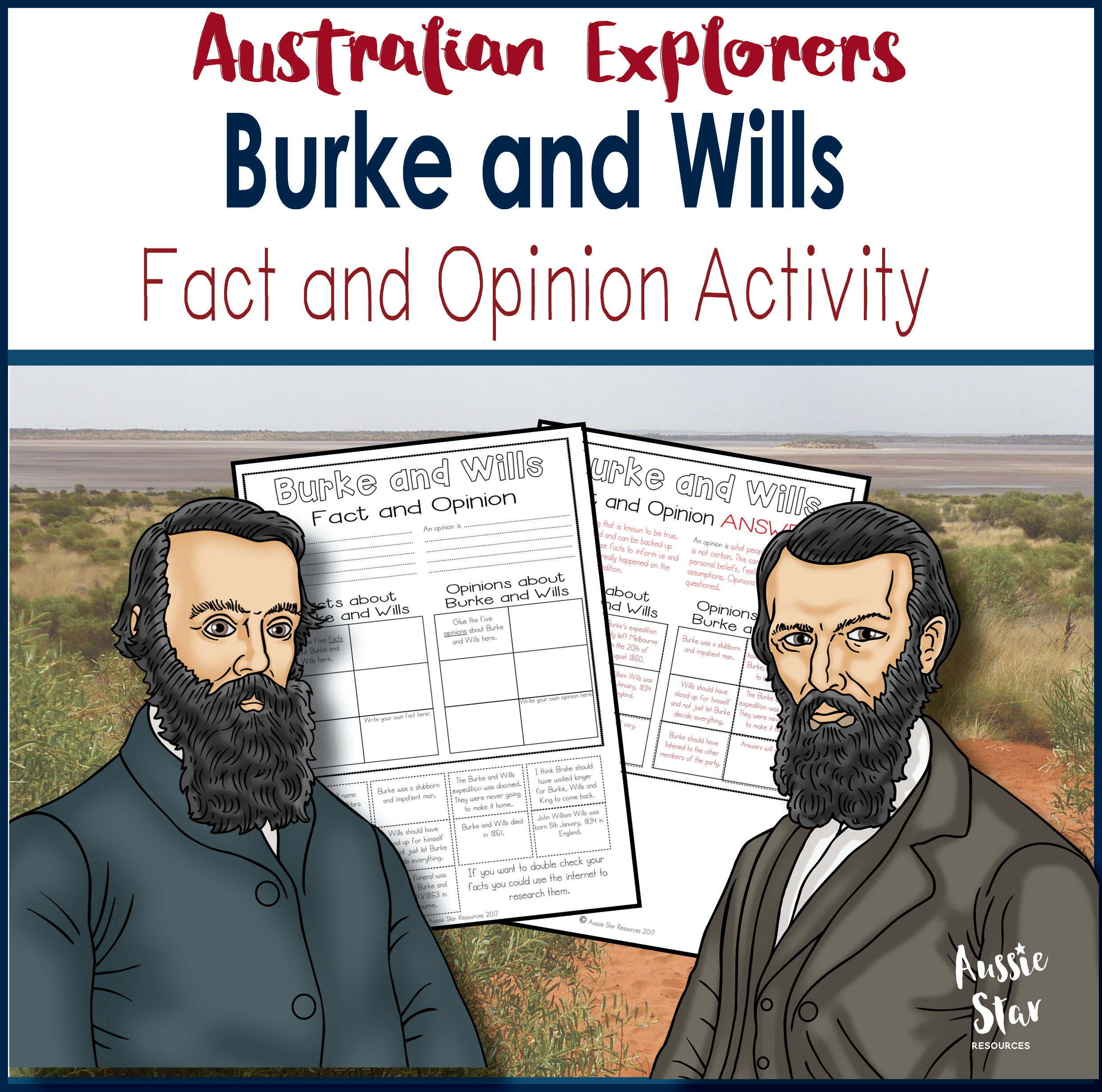 Burke and Wills fact and opinion activity cover
