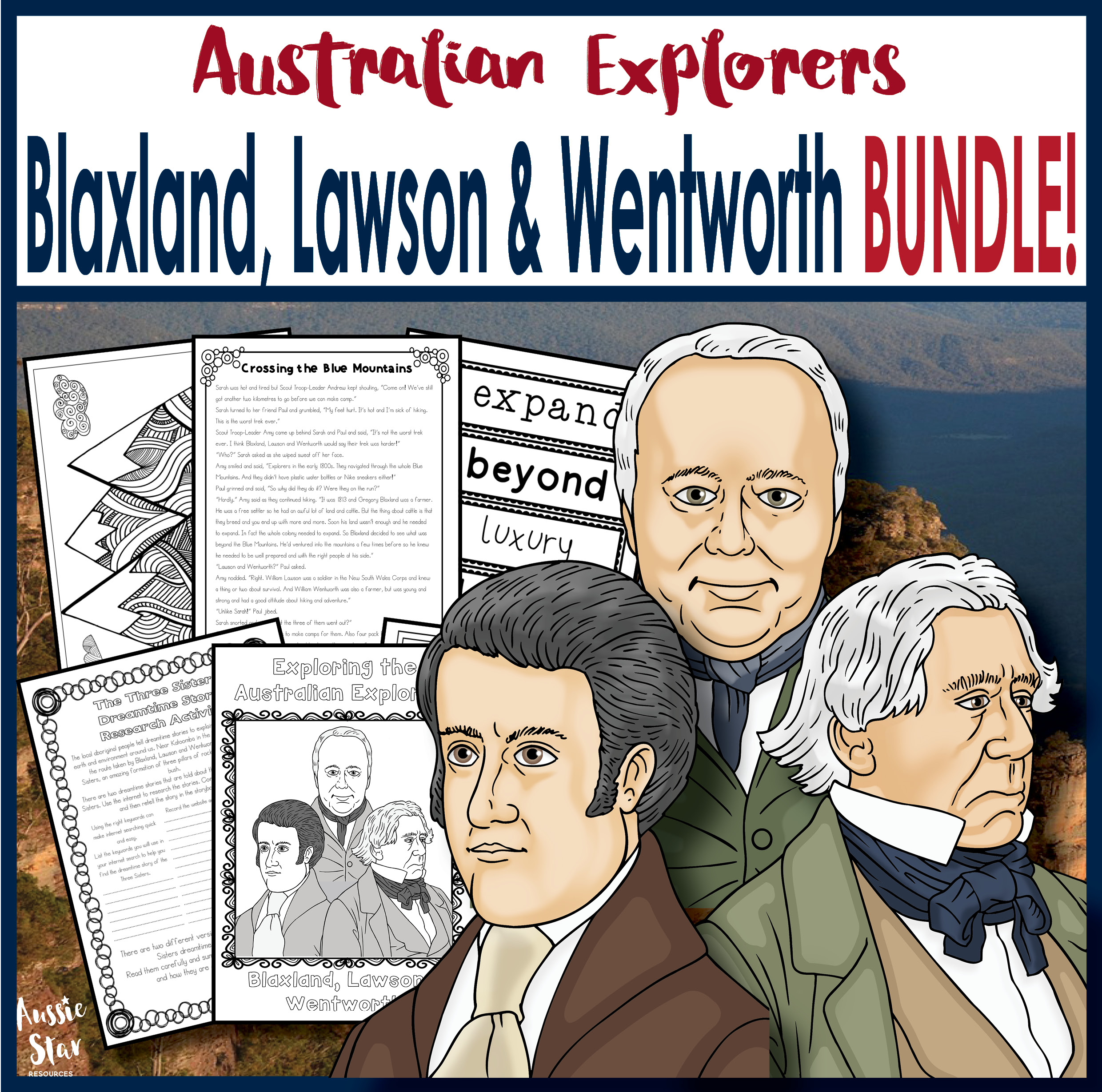 Blaxland, Lawson and Wentworth bundle cover