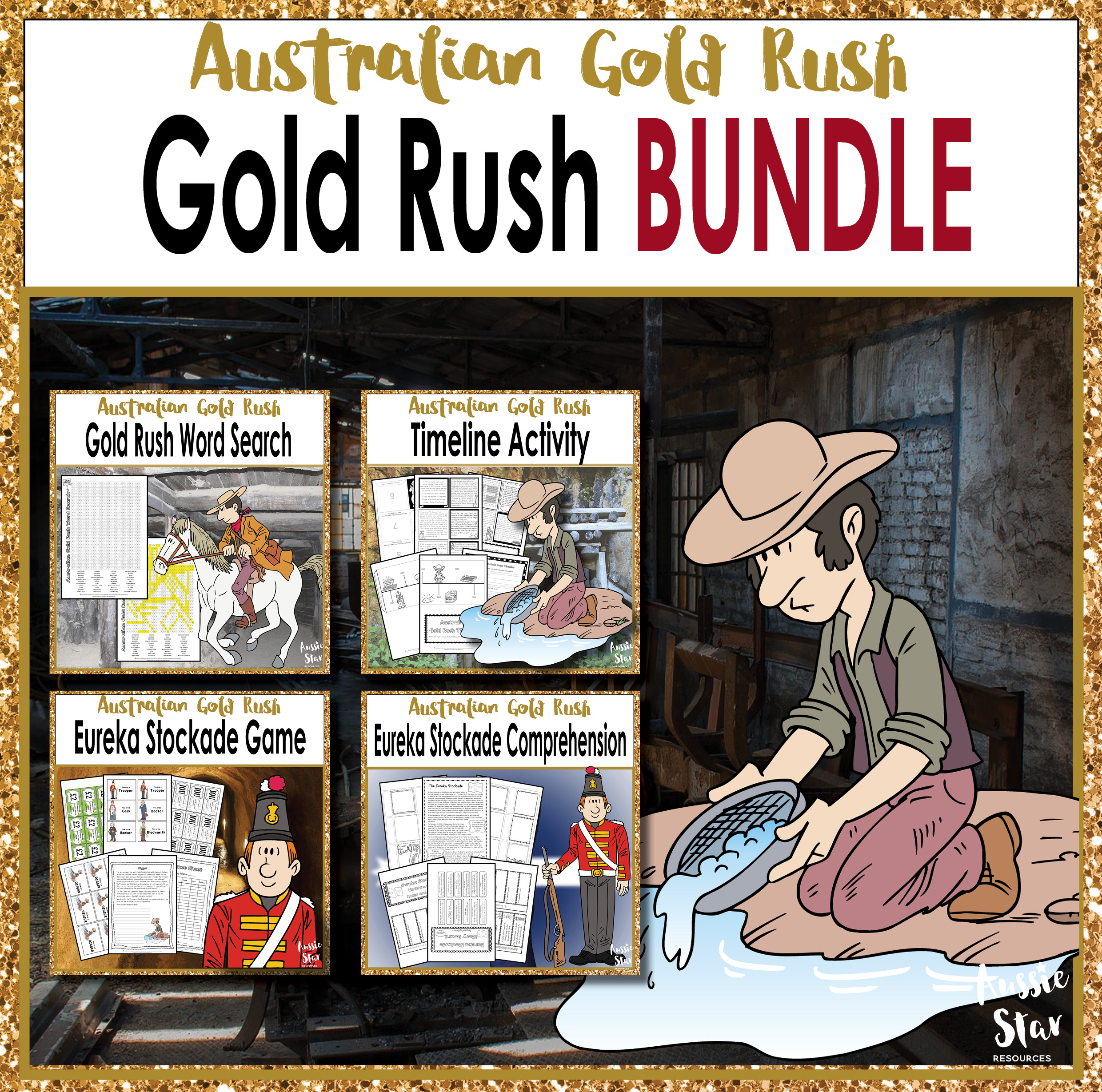 Year 5 HASS Australian Gold Rush BUNDLE SAVE 30%