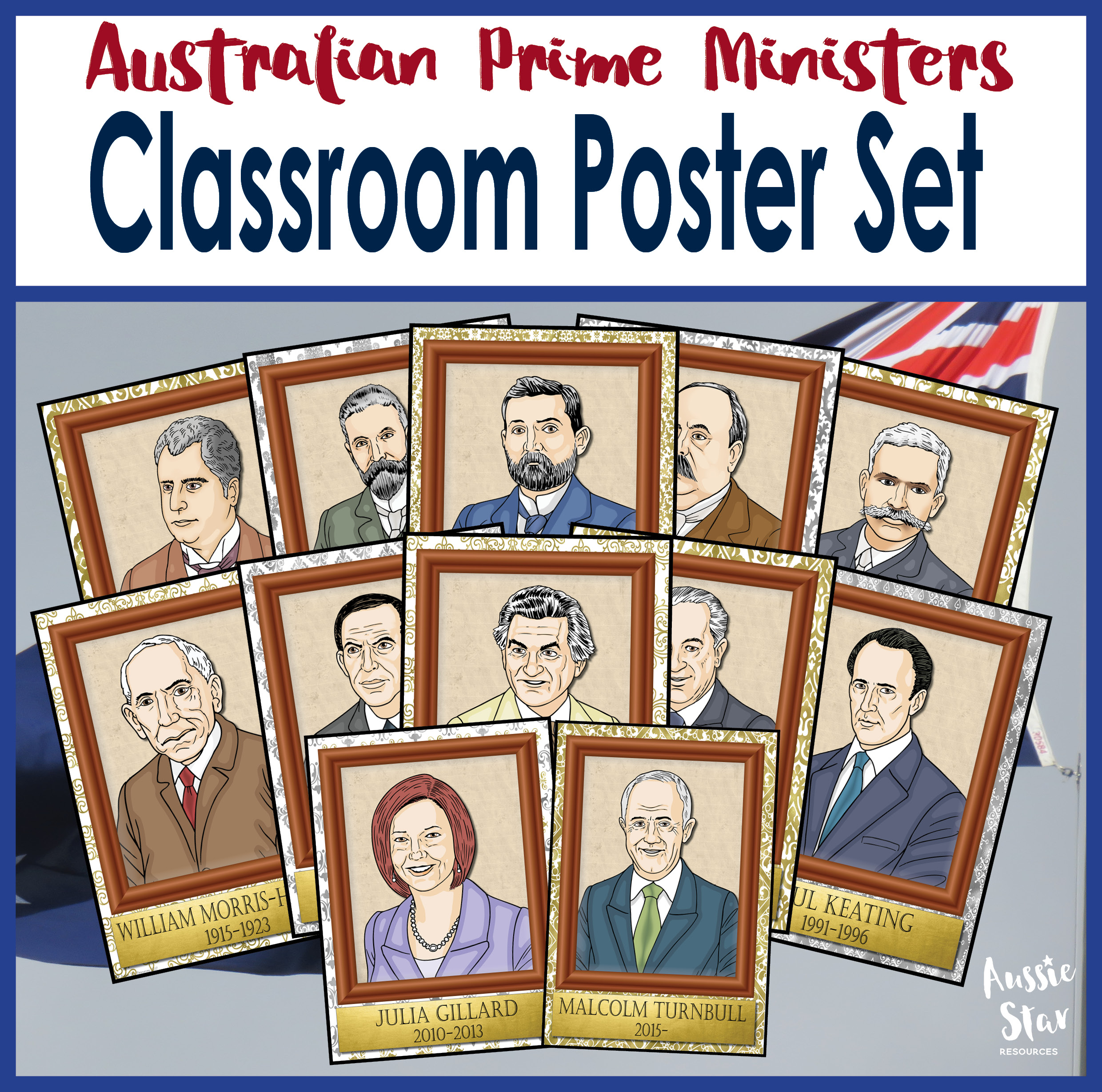 Australian Prime Ministers classroom display posters